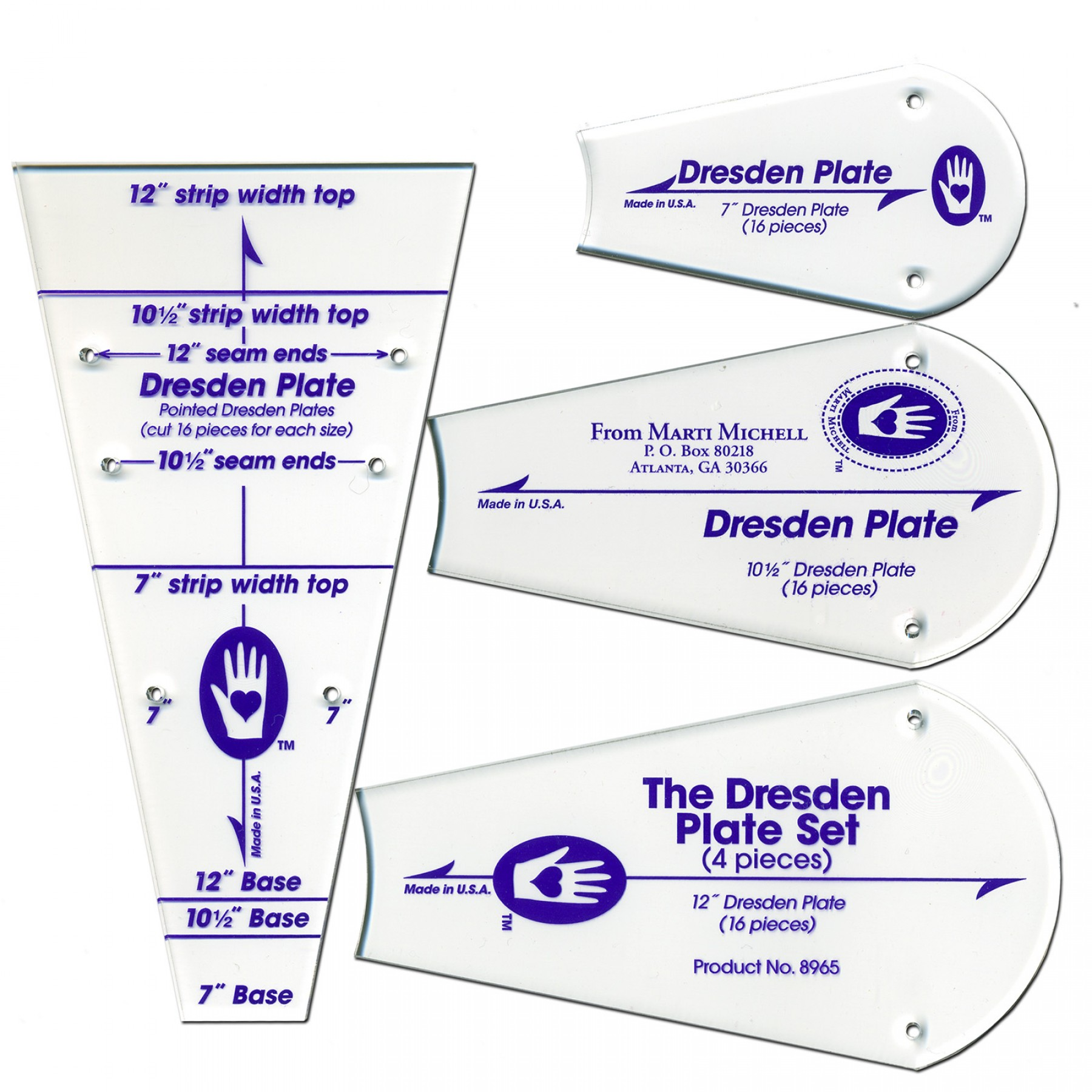 how to make a dresden plate template - dresden plate template set ee schenck co