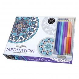 Meditation Coloring Book & Pencils