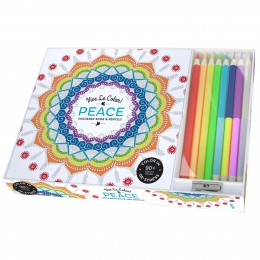 Peace Coloring Book and Pencils