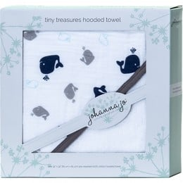 Whales Hooded Terry Towel