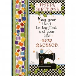 Sew Blessed Birthday Card