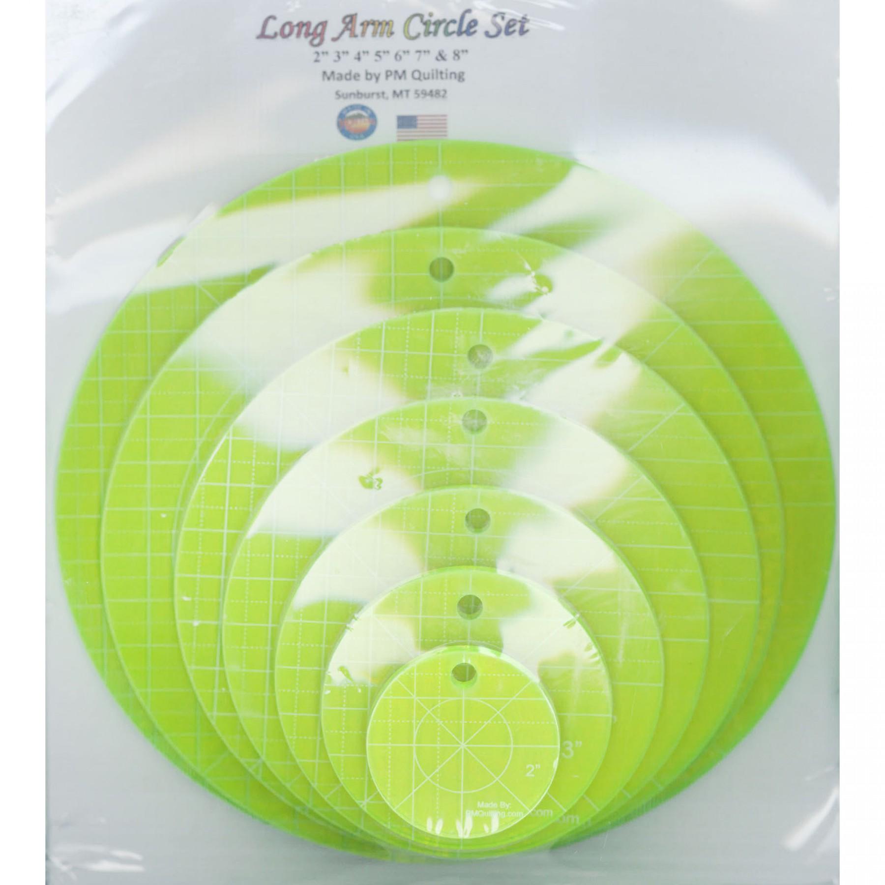 Circle Ruler Set Longarm Glow Edge Ee Schenck Co