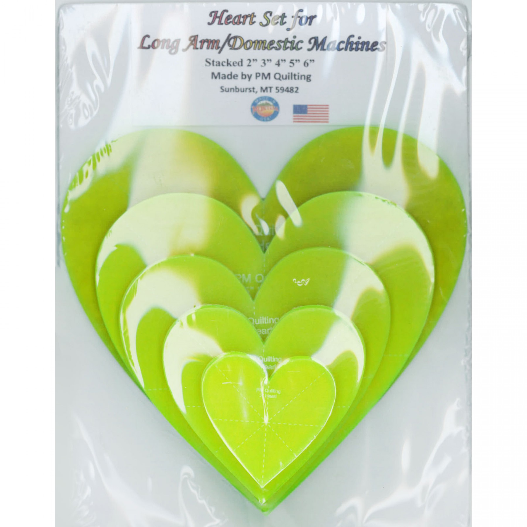 Heart Ruler Set Longarm Glow Edge Ee Schenck Co