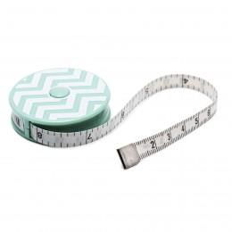 Mint Chevron Tape Measure